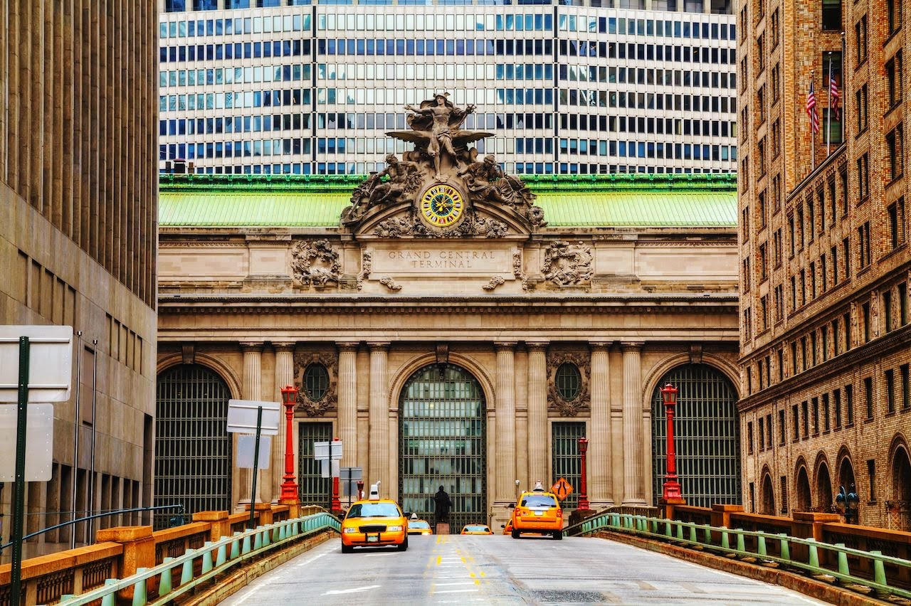 Grand central station viaduct and entrance
